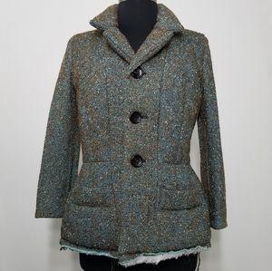 Junya Watanabe Jacket Coat Knobby Tweed Raw Hem M